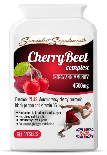 CherryBeet Complex x 60 Veg-Caps; Energy & Immune; Specialist Supplements